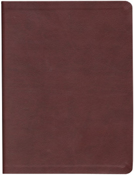 Message Large Print Bible - BURGUNDY LeatherLook