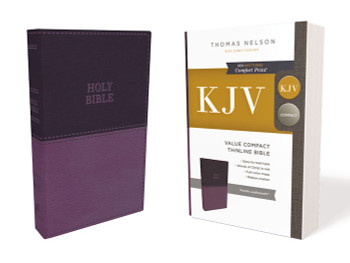 KJV Value Compact Thinline Bible, Purple Leathersoft
