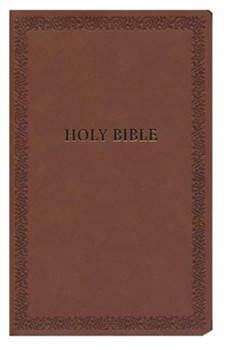 NIV Holy Bible Soft Touch Edition. BROWN Leathersoft 7.5pt type.