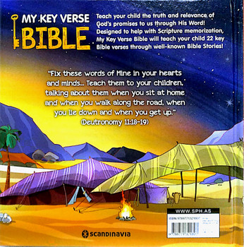 My Key Verse Bible(Hardcover) - 22 Great Bible Verses to Memorize - each illustrated with a well-known Bible Story
