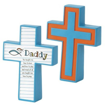 Tabletop Cross(TCR181) Daddy You Taught Me How to Love