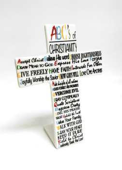 Tabletop Cross(TCR87) - ABC's of Christianity (Porcelain)