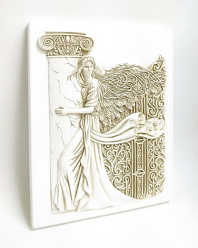 "3 dimensional Wall Plaque - Pillar of Strength Angel #8422 (10"" x 8"") Wall Art by Barbara McDonald"