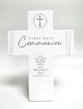 "Desktop & Wall Cross - First Holy Communion.  5 1/2"" x 7 5/8"""