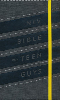 NIV Bible for Teen Guys - Soft leatherlook, Charcoal with Elastic closure(Ages 13-18)