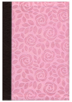 NIV Thinline Bible Large Print Pink Leatherlike, 11.4pt with Red Letter