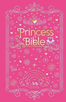 ICB Princess Sparkle Bible w/Coloring Sticker Book-Pink Hardcover
