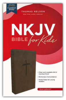 NKJV Holy Bible For Kids (Ages 6-10) - BROWN Leathersoft 9.5pt type with reading plans