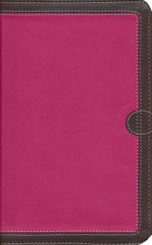 NIV Thinline Bible - PINK/CHOCOLATE Leathersoft, 9.4pt with Red Letter