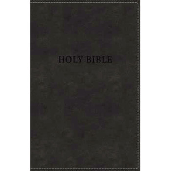 KJV Deluxe Gift Bible - BLACK Leathersoft, 8pt with Red letter