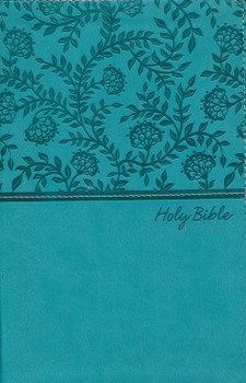 KJV Deluxe Gift Bible - TURQUOISE Leathersoft, 8pt Type with Red letter