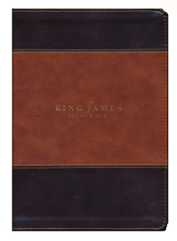 KJV Study Bible Full-Color Edition, Brown/Dark Brown Leathersoft. Beautiful. Trustworthy. Timeless.