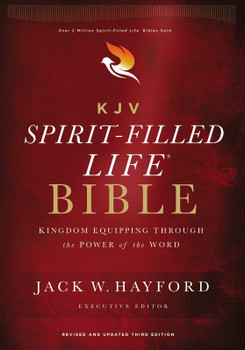 KJV Spirit-Filled Life Bible(HARD COVER) 9pt type with Red Letter. Revised & Updated Third Edition, by Jack W. Hayford.