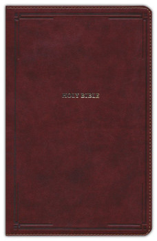 NKJV Thinline Reference Bible, BROWN Leathersoft.  11pt type Red Letter