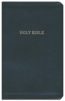KJV Thinline Deluxe Reference Bible, BLACK Leathersoft, 8.9pt with Red Letter