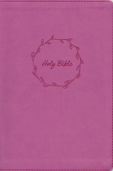 KJV Value Thinline Large Print Bible, PINK Leathersoft, 11.5pt type with Red Letter