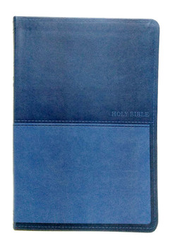 KJV Value Thinline Large Print Bible, BLUE Leathersoft, 11.5pt type with Red Letter