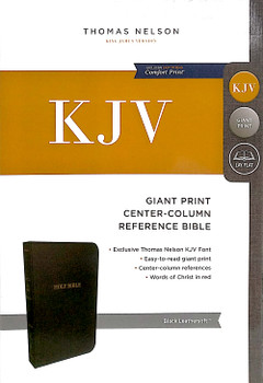 KJV Giant Print Centre-Column Reference Bible, BLACK Leathersoft. 12.2pt type, Red Letter