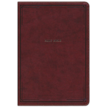 NKJV Giant Print Thinline Bible, BROWN Leathersoft, 12 pt type with Red Letter