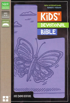 NIrV Kids Devotional Bible(Ages 6-10), Lavender Butterfly - with over 300 devotions