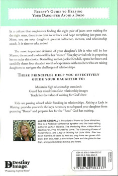 Raising a Lady in Waiting - Parent's Guide to Helping Your Daughter Avoid a Bozo by Jackie Kendall