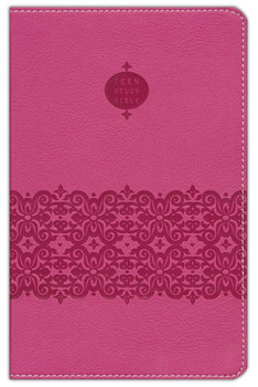 NIV Teen Compact Study Bible with study features, Pink Leathersoft