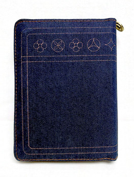 圣经 Jeans Covered Pocket Chinese Bible (Simplified Chinese) with zipper