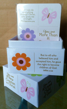 Scripture Box with 30 cards - In Christ butterfly design.  *Available in shop only