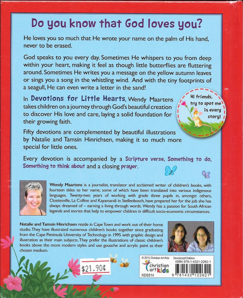 Devotions for Little Hearts - Discover the blessings in God's wonderful world (Hardcover) by Wendy Maartens