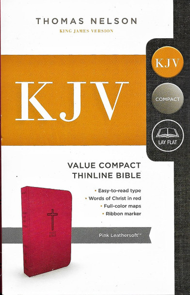 KJV Value Compact Thinline Bible - PINK Leathersoft.
