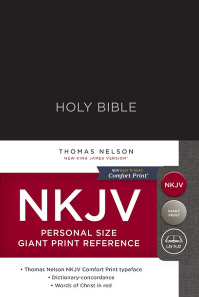 NKJV Personal Size Giant Print Reference Bible(Hardcover) BLACK, Red Letter Edition