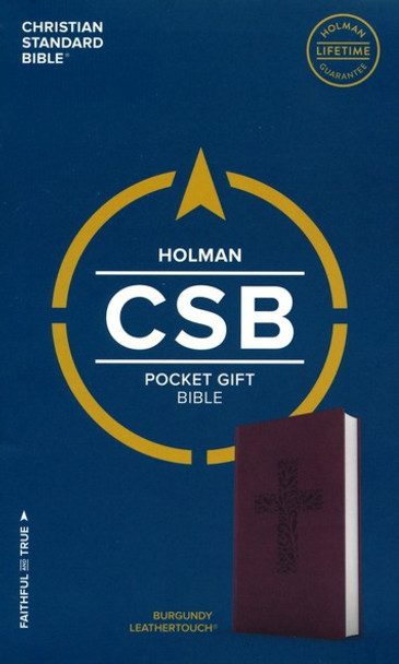 CSB Pocket Gift Bible - Burgundy LeatherTouch  by Holman Bibles