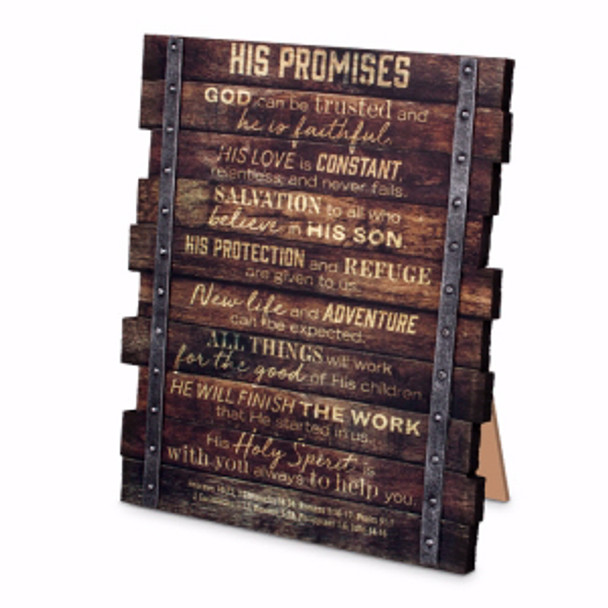 His Promises - Plaque-Industrial Farmhouse