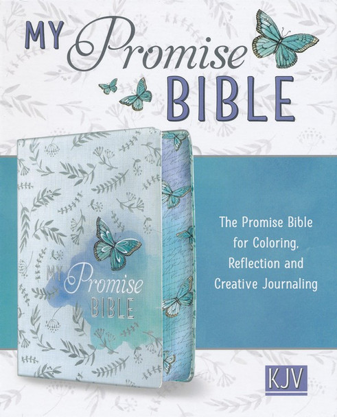 KJV My Promise Bible White-Purple Butterfly Design in Hardcover