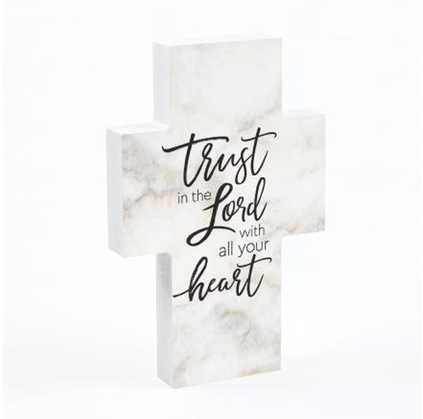 Tabletop Cross - Trust In The Lord With All Your Heart