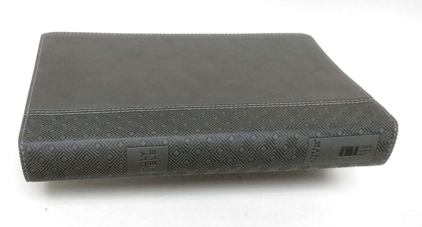 NIV Thinline Reference Bible Large Print, CHARCOAL Leathersoft,  11.4pt Red Letter