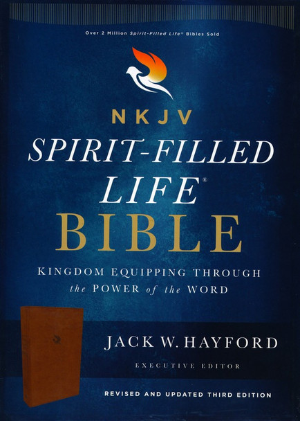 NKJV Spirit-Filled Life Bible - BROWN Leathersoft. 10pt with Red Letter. Revised & Updated Third Edition, by Jack W. Hayford.