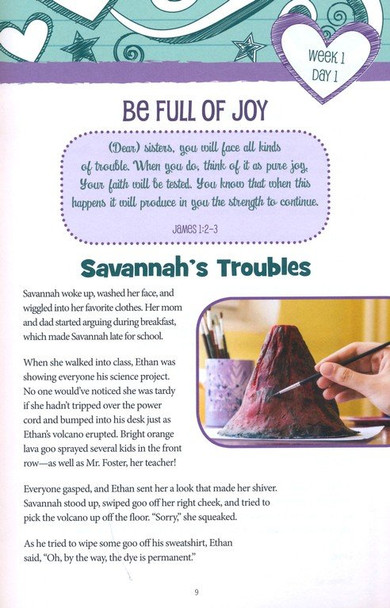 Thinking God's Way: True Heart Girls Devotional by Sherry Kyle for Ages 9-12