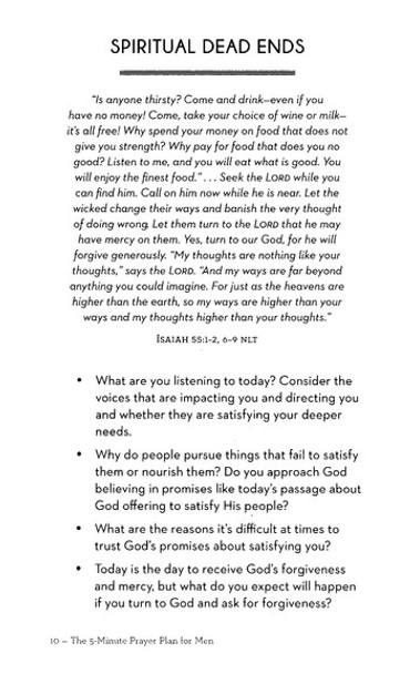 The 5-Minute Prayer Plan for Men : A Guide to More Focused Prayer