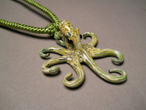 Blown glass jewelry Octopus Pendant