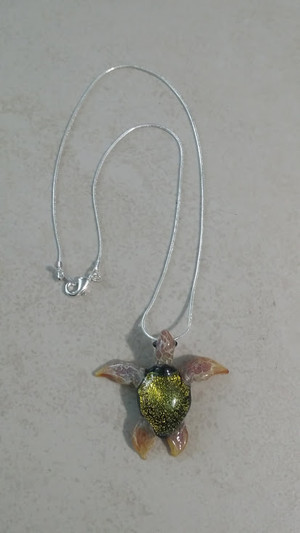 Sea Turtle on Pendant Chain
