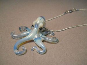 Glass Octopus Pendant
