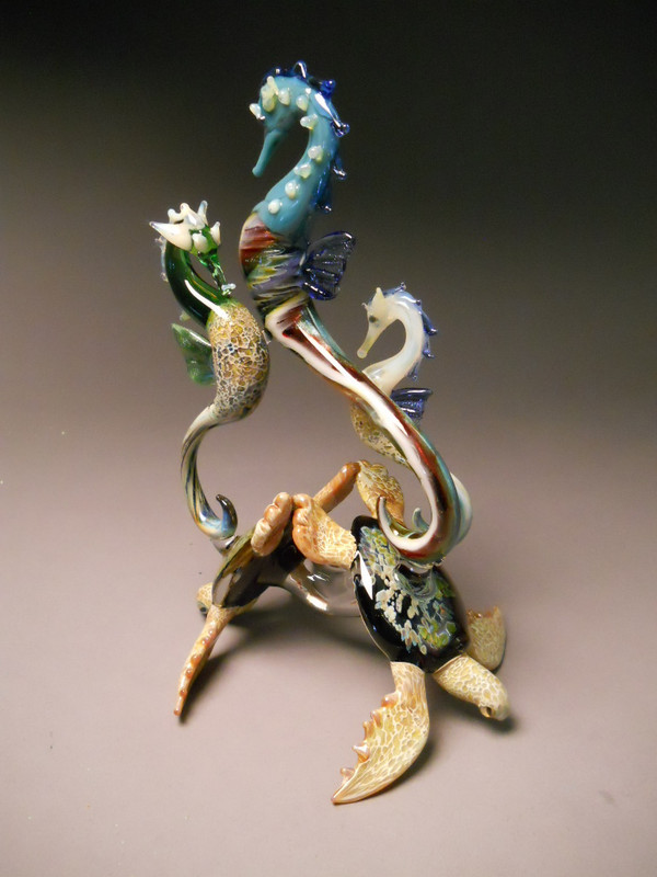 Other side of Sea Horse Sculpture