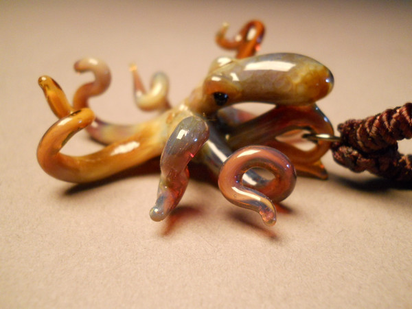Octopus brownish in color