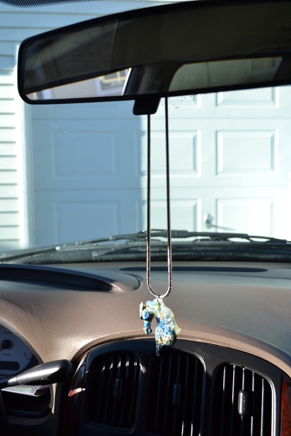 Stallion horse pendant hanging on Rear view mirror
