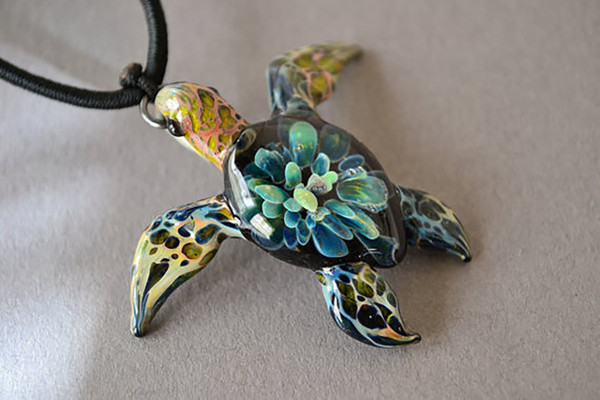 Hawkbill Sea Turtle Pendant