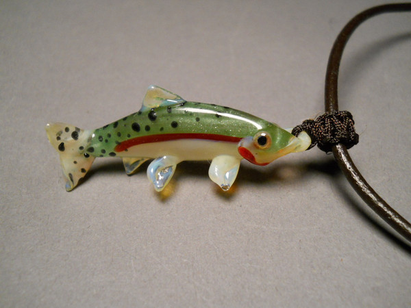 Green Back Cutthroat Trout Pendant for Men or Women