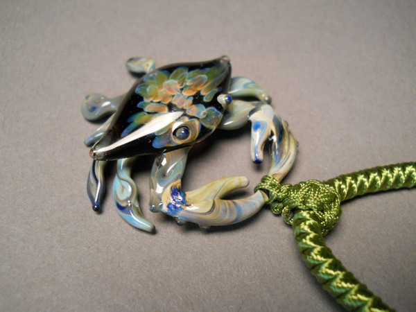 Glass Crab Pendant