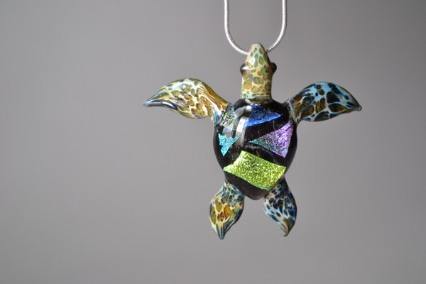 Colorful Sea Turtle on chain
