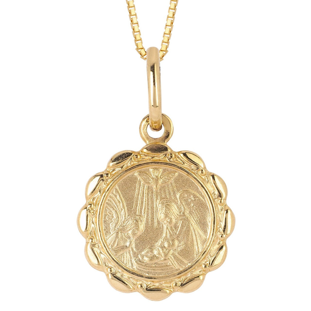 14KT Yellow Gold Baptism Pendant With Chain